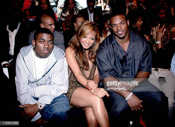 Short Dog Christina Milian and Dwight Freeney during Olympus Fashion Week Fall 2006 Baby Phat Front Row and Backstage at Bryant Park in New York City...