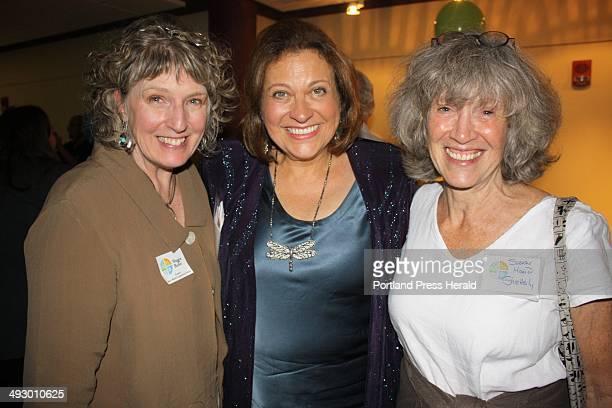 Short fiction award winner Maggie Butler Maine Writers Publishers Alliance board president Sibyl Masquelier and nonfiction book award winner Susan...