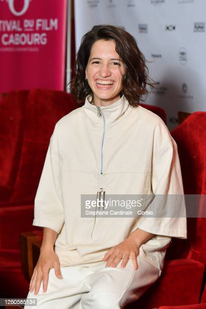 Short film jury member Aloïse Sauvage attends 34th Cabourg Film Festival Short Film Jury Photocall on June 18 2020 in Paris France