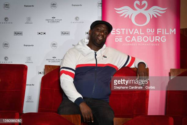 Short film jury member Steve Tientcheu attends 34th Cabourg Film Festival Short Film Jury Photocall on June 18 2020 in Paris France