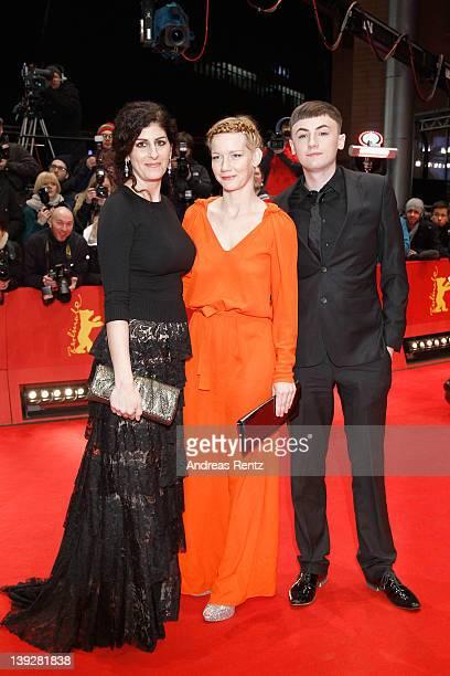Short Film jury members Emily Jacir Sandra Hueller and David O'Reilly attend the Closing Ceremony during day ten of the 62nd Berlin International...