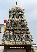 Short Gopuram on shrine in front of Sarangapani temple.