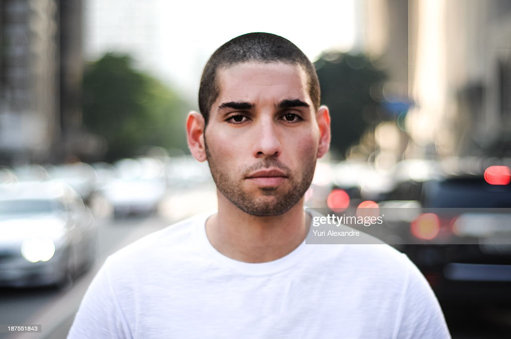 Short haired guy portrait : Stock Photo