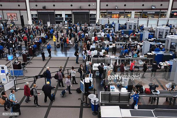 NOVEMBER 22 Short lines for holiday travelers at Denver international airport November 22 2016 as they head out during Thanksgiving week