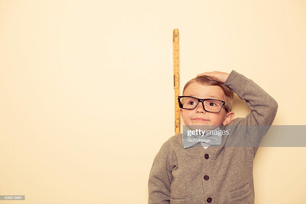 Short Male Nerd : Stock Photo