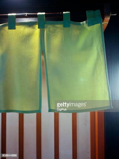 short 'noren' curtain - のれん ストックフォトと画像