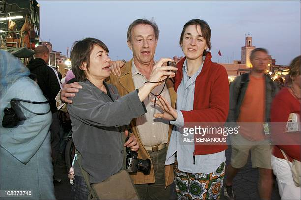 Short sightseeing for Gerard Klein Francoise and Ninon They marched along the famous Jemaa el Fna mingling with the crowd and serpents charmers to...