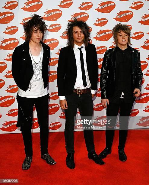 Short Stack arrive for the Australian Nickelodeon Kids' Choice Awards 2009 at Hisense Arena on November 13 2009 in Melbourne Australia
