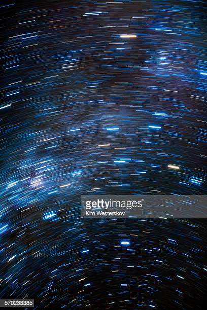 Short star trails around South Celestial Pole