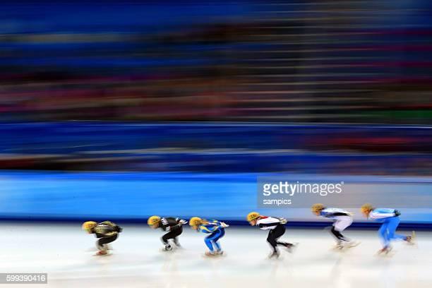 Short TRack Frauen women 1500 Meter allgemein Wischer olympic winter games 2014 sochi olympische Spiele winterspiele in Sochi sotchi 2014