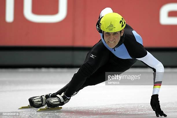Short Track Herren men Sebastian Praus GER olympische Winterspiele in Turin 2006 olympic winter games in torino 2006 | Location Turin Palavela Italy
