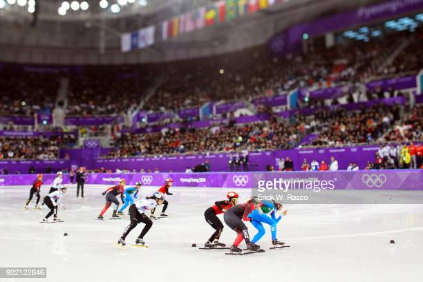 2018 Winter Olympics Overall view of Women's 3000M Relay Final at Gangneung Ice Arena Gangneung South Korea 2/20/2018 CREDIT Erick W Rasco