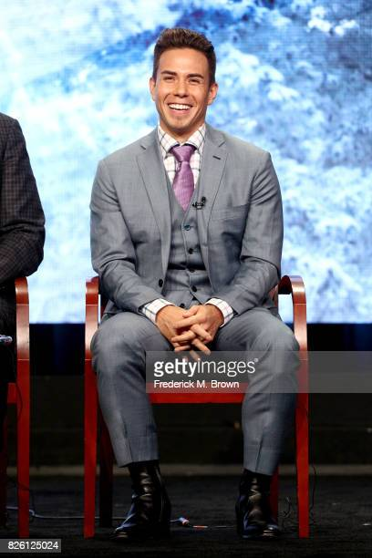Short Track Speed Skating Analyst Apolo Ohno of ''The Winter Olympics' panel speaks onstage during the NBCUniversal portion of the 2017 Summer...