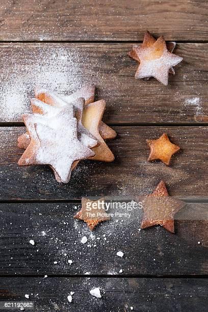Shortbread star shape sugar cookies