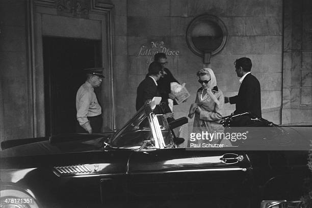 Shortly after their marriage American actress Marilyn Monroe and playwright Arthur Miller along with friend photographer Milton Greene leave 2 Sutton...