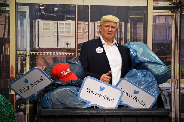 "DEU: ""Dump Trump"" At Madame Tussauds In Berlin"