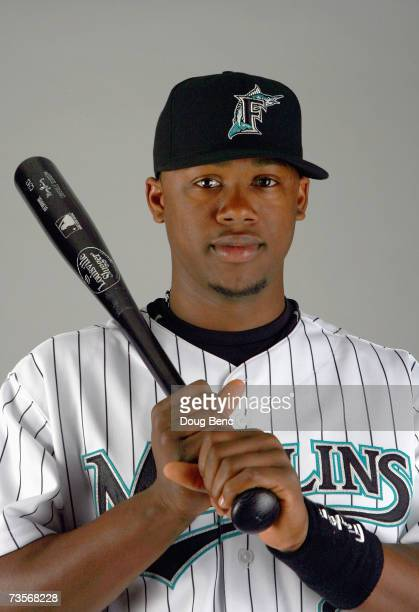 Shortstop Hanley Ramirez of the Florida Marlins poses during Photo Day on February 23 2007 at the Marlins training facility in Jupiter Florida