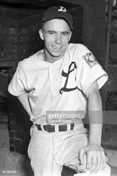 Shortstop Harold Pee Wee Reese of the Louisville Colonels poses for a portrait prior to a game in 1939 at Parkway Field in Louisville Kentucky...