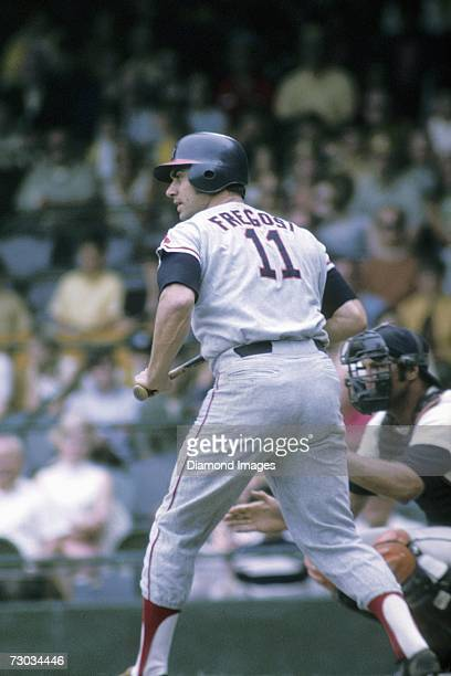 Shortstop Jim Fregosi of the California Angels at bat during a game in June 1970 against the Detroit Tigers at Tiger Stadium in Detroit Michigan The...