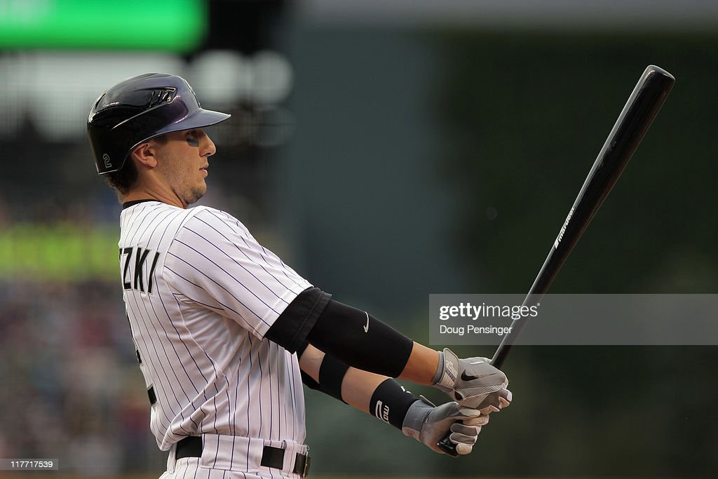 Shortstop Troy Tulowitzki #2 of the Colorado Rockies prepares to take an at bat against the Chicago White Sox during Interleague play at Coors Field on June 29, 2011 in Denver, Colorado. The White Sox defeated the Rockies 3-2.