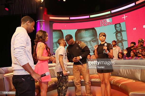 Shorty Da Prince Kimberly 'Paigion' Walker Bow Wow 50 Cent and Miss Mykie visit BET's '106 Park' at BET Studios on January 17 2013 in New York City