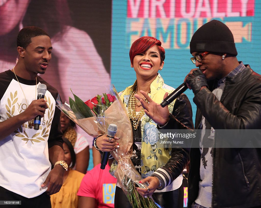 Shorty Da Prince, RaVaughn and Ne-Yo visit BET's '106 & Park' at BET Studios on February 21, 2013 in New York City.