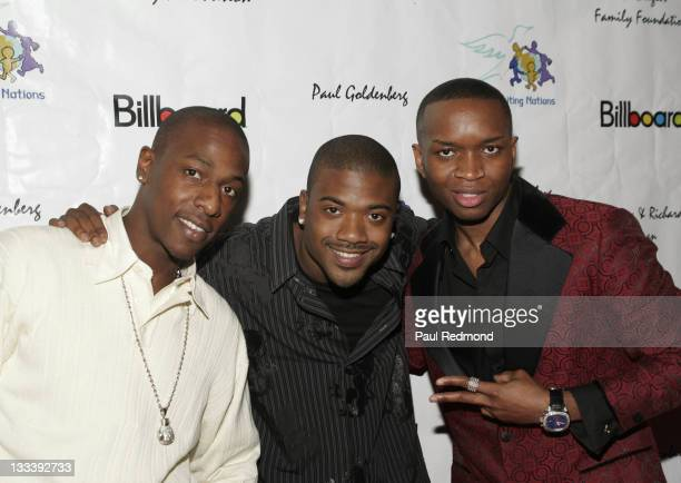 Shorty Mac Ray J And Riz During Billboard Presents Children Uniting Nations Oscar Party Arrivals At