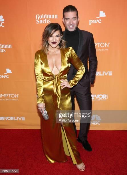 Shoshana Bean and Omar Sharif Jr attend The Trevor Project's 2017 TrevorLIVE LA Gala at The Beverly Hilton Hotel on December 3 2017 in Beverly Hills...