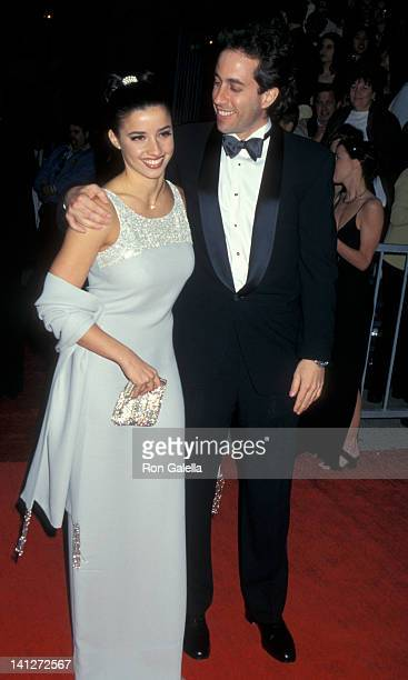 Shoshanna Lonstein and Jerry Seinfeld at the 3rd Annual Screen Actors Guild of America Awards Shrine Exposition Center Los Angeles