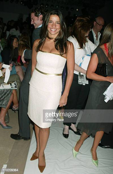 Shoshanna Lonstein during Olympus Fashion Week Spring 2005 J Mendel Front Row and Backstage at Plaza Tent Bryant Park in New York City New York...