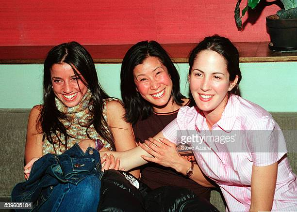 Shoshanna Lonstein Lisa Ling and Patricia Herrera at Lizzie Grubman's 30th birthday party at Moomba in New York City