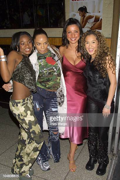Shoshanna Lonstein with 3LW during Cosmopolitan launch of Shoshanna swimwear line at Bowery Bar in New York City New York United States