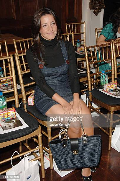 Shoshanna Lowenstein during Olympus Fashion Week Spring 2007 Charlotte Ronson Front Row and Backstage at The Chemists Club in New York City New York...