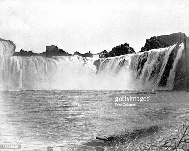 Shoshone Falls, Idaho, USA, 1893. Illustration from Portfolio of Photographs of Famous Cities, Scenes and Paintings, .