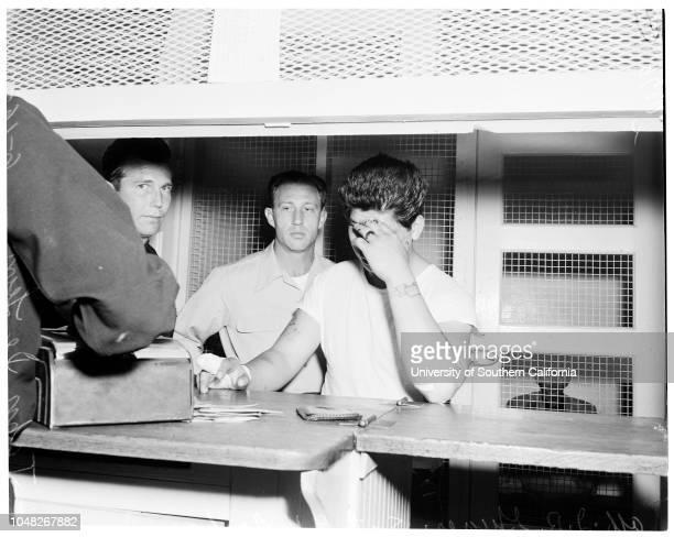 Shot attempt suicide victim 16 June 1952 Officer RF ShelleyJohn Deleon 26 years Foundry worker 3254 E 1st StreetMrs John Deleon wife of victimOfficer...
