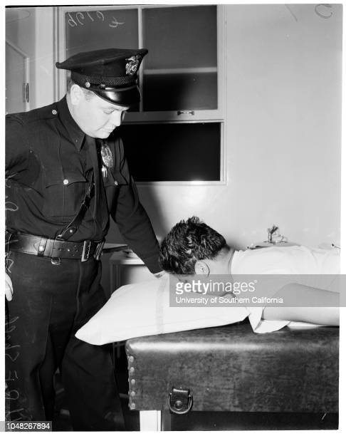 Shot attempt suicide victim 16 June 1952 Officer RF ShelleyJohn Deleon 26 years Foundry worker 3254 E 1st StreetMrs John Deleon wife of victimOfficer...