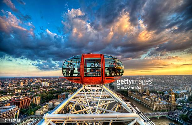 Shot from the top of The Eye of London looking at the marker pod.