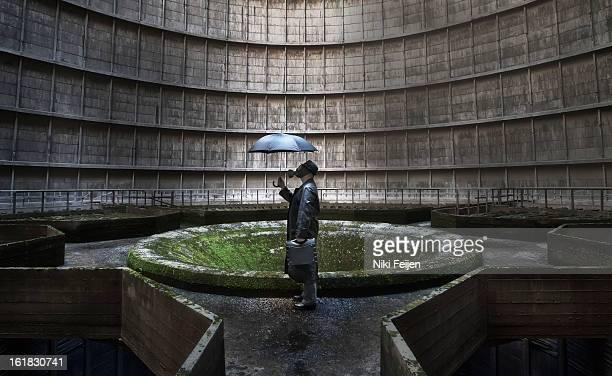 CONTENT] Shot inside an abandoned cooling tower Gasmask shot