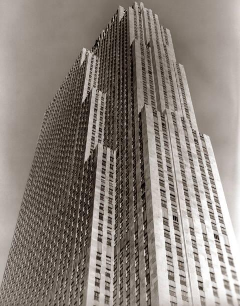 Shot Looking Upward At Rockefeller Center Skyscrap Wall Art