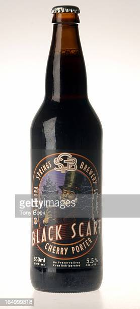 Shot of a bottle of Glenora Springs Black Scarf Cherry Porter to accompany Josh Rubin's weekly beer column ``What's Brewing'' in the food section...