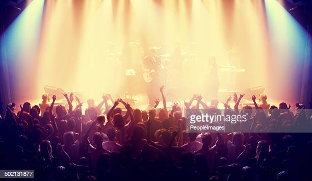 packed with devoted fans - concert hall stock pictures, royalty-free photos & images