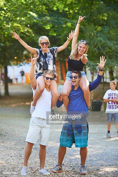 getting into the spirit of the festival - festival goer stock pictures, royalty-free photos & images