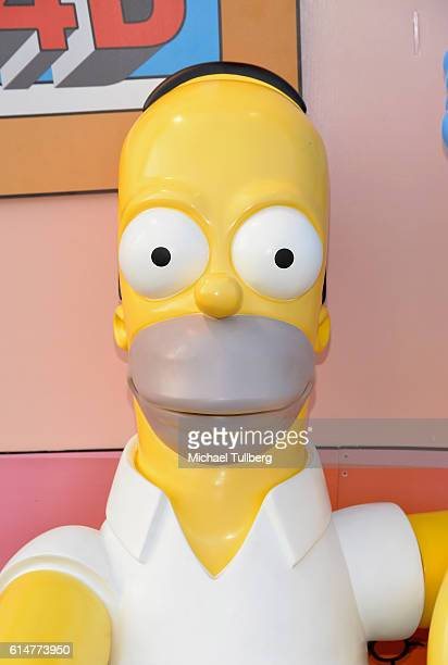 Shot of a Homer Simpson statue at a celebration of the 600th Episode of The Simpsons at YouTube Space LA on October 14 2016 in Los Angeles California