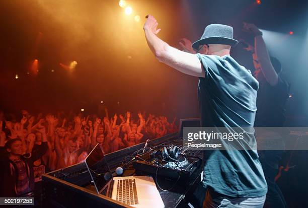 unadulterated musical passion - club dj stock pictures, royalty-free photos & images