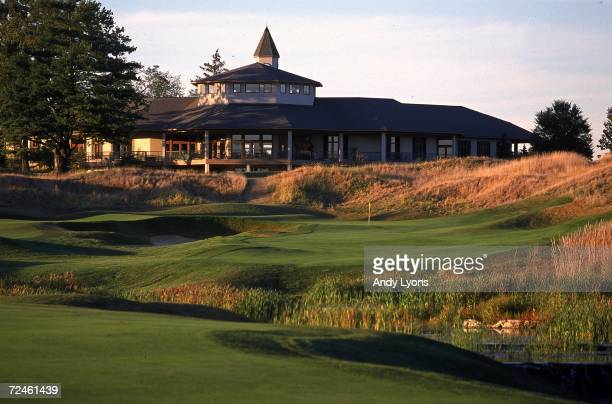 A shot of hole 18 at the Valhalla Golf Club future site of the 82nd PGA Championships August 1720 2000 in Louisville Kentuky