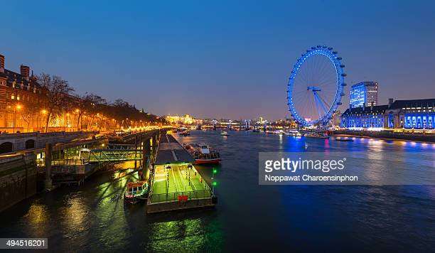 Shot of Iconic London Eye from Westminister Bridge, London, United Kingdom.