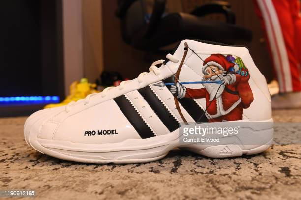 A shot of Jamal Murray of the Denver Nuggets custom sneakers before the game against the New Orleans Pelicans on December 25 2019 at the Pepsi Center...