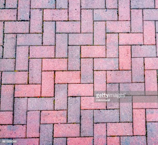 shot of pavement on footpath, pavement textures - paving stone stock pictures, royalty-free photos & images