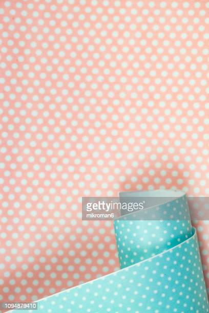 shot of pink spotted pattern background - wallpaper roll stock pictures, royalty-free photos & images