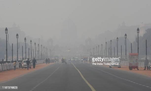Shot of Smog in New Delhi.